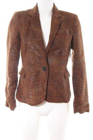 Zara Basic Long-Blazer braun Animalmuster extravaganter Stil