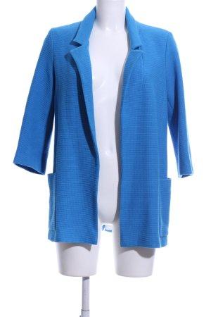 Zara Basic Long-Blazer blau Casual-Look