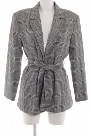 Zara Basic Long-Blazer Karomuster Business-Look