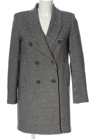 Zara Basic Long-Blazer schwarz-weiß Allover-Druck Business-Look