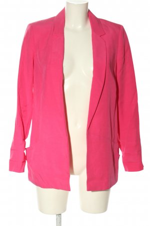 Zara Basic Long-Blazer pink Casual-Look