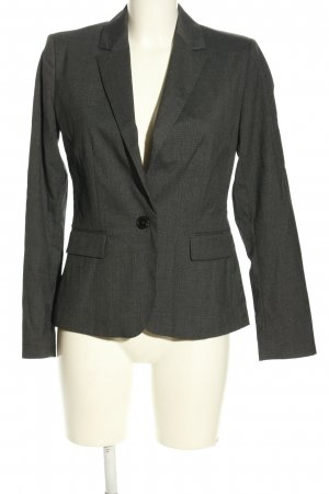 Zara Basic Long-Blazer hellgrau Karomuster Business-Look