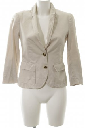 Zara Basic Long-Blazer creme Business-Look