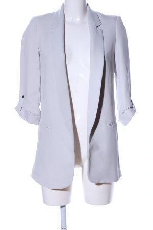Zara Basic Long-Blazer hellgrau Business-Look