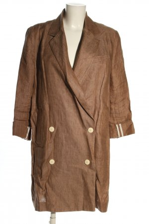Zara Basic Long-Blazer braun Casual-Look