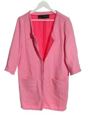 Zara Basic Long-Blazer pink Allover-Druck Casual-Look