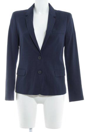 Zara Basic Long-Blazer dunkelblau Business-Look
