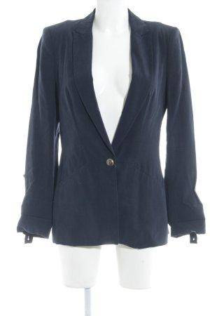 Zara Basic Long-Blazer dunkelblau Casual-Look