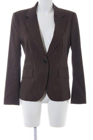 Zara Basic Long-Blazer dunkelbraun-hellbraun meliert Business-Look
