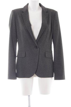 Zara Basic Long-Blazer dunkelgrau meliert Business-Look