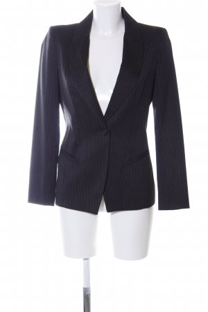 Zara Basic Long-Blazer dunkelgrau Nadelstreifen Business-Look