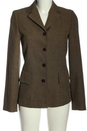 Zara Basic Long-Blazer braun meliert Business-Look