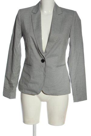 Zara Basic Long-Blazer hellgrau meliert Casual-Look