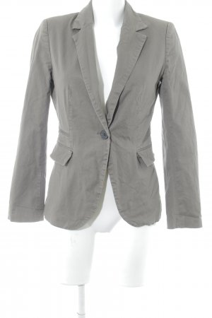 Zara Basic Long-Blazer grüngrau Business-Look