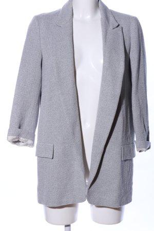 Zara Basic Long-Blazer hellgrau meliert Business-Look