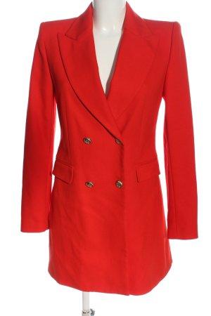 Zara Basic Long-Blazer rot Elegant