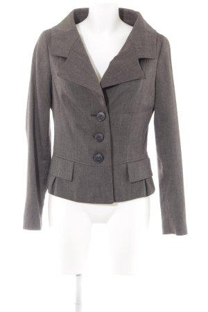 Zara Basic Long-Blazer schwarzbraun-grau meliert Elegant