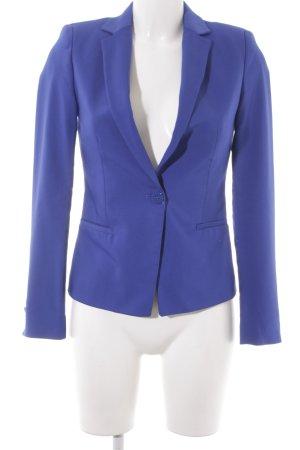 Zara Basic Long-Blazer stahlblau Elegant