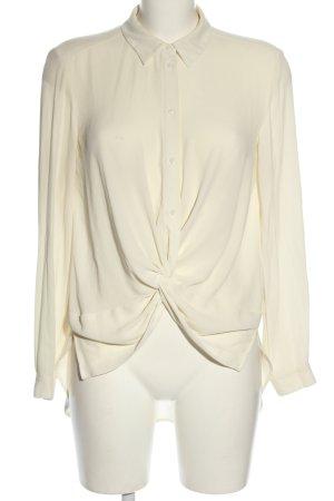 Zara Basic Long-Bluse wollweiß Casual-Look