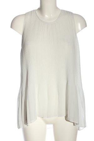 Zara Basic Long-Bluse weiß Casual-Look