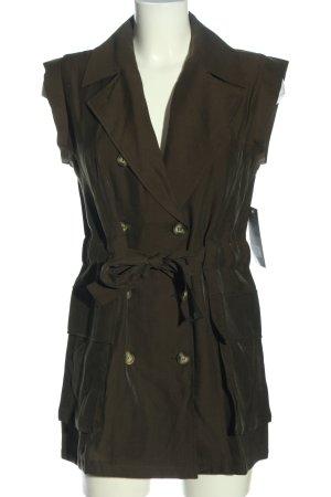 Zara Basic Long-Bluse bronzefarben Casual-Look