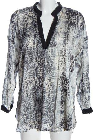 Zara Basic Long-Bluse Allover-Druck Casual-Look