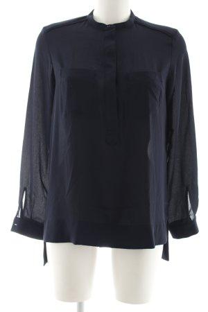 Zara Basic Long-Bluse schwarz Business-Look