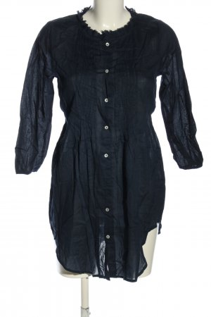 Zara Basic Long-Bluse blau Casual-Look