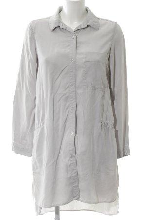Zara Basic Long-Bluse hellgrau Casual-Look
