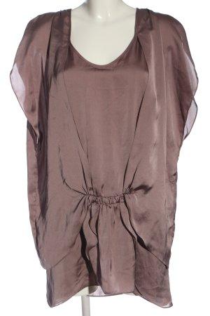 Zara Basic Long-Bluse braun Casual-Look