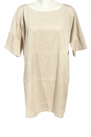 Zara Basic Long-Bluse wollweiß Punktemuster Casual-Look
