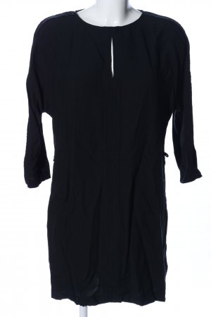 Zara Basic Long-Bluse schwarz Casual-Look