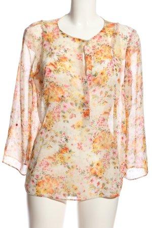 Zara Basic Schlupf-Bluse Allover-Druck Casual-Look
