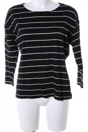 Zara Basic Longsleeve schwarz-weiß Streifenmuster Casual-Look