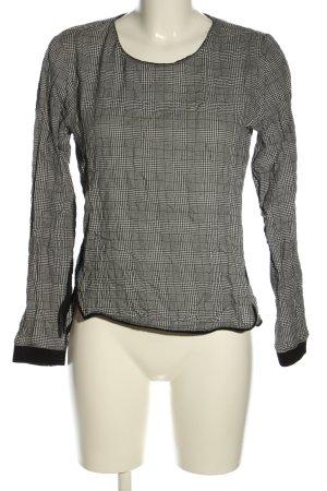 Zara Basic Longsleeve schwarz-weiß Allover-Druck Business-Look