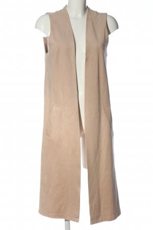 Zara Basic Long Knitted Vest natural white casual look