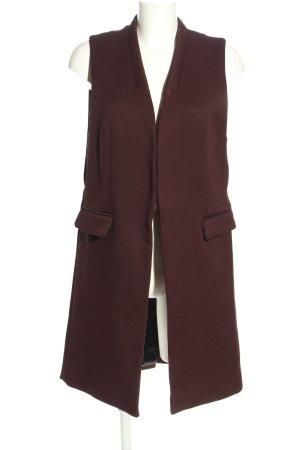 Zara Basic Chaleco de punto largo marrón estilo «business»