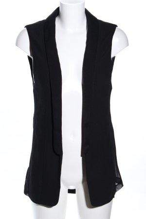 Zara Basic Lang gebreid vest zwart casual uitstraling