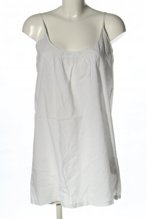 Zara Basic Long Top white casual look