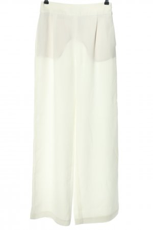 Zara Basic Marlene Dietrich broek wit casual uitstraling