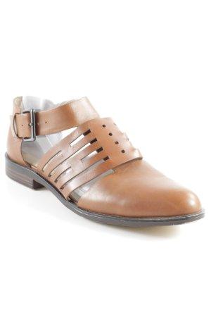 Zara Basic Scarpa Mary Jane marrone-marrone scuro stile semplice