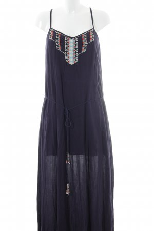 Zara Basic Maxikleid dunkelblau Casual-Look