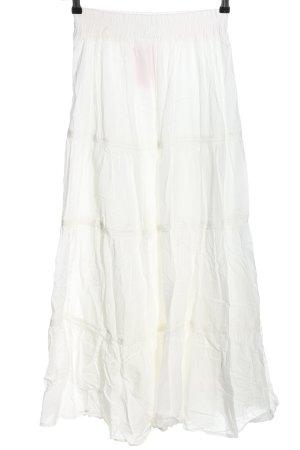 Zara Basic Maxi rok wit casual uitstraling