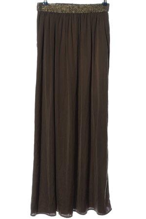 Zara Basic Jupe longue brun-doré style décontracté
