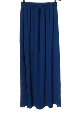 Zara Basic Falda larga azul elegante
