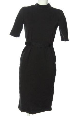 Zara Basic Midikleid schwarz Business-Look