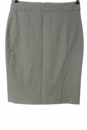 Zara Basic Bleistiftrock schwarz-weiß abstraktes Muster Casual-Look