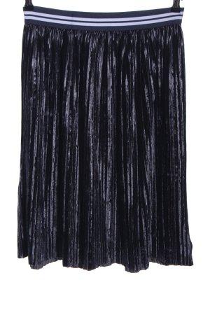 Zara Basic Spódnica midi czarny-biały Wzór w paski W stylu casual