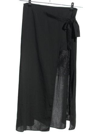 Zara Basic Midirock schwarz Casual-Look