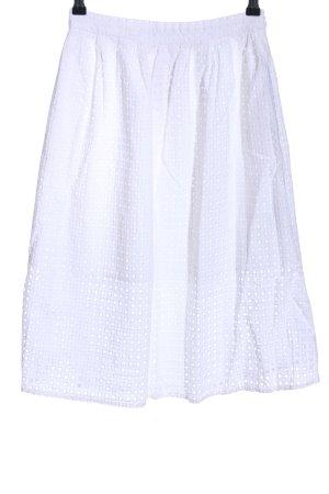 Zara Basic Spódnica midi biały Na całej powierzchni W stylu casual